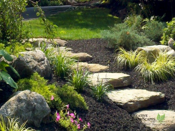 Natural stone pathways creative landscapes - Pictures of stone pathways ...